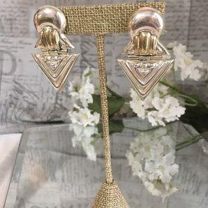 Sterling silver vintage style earrings